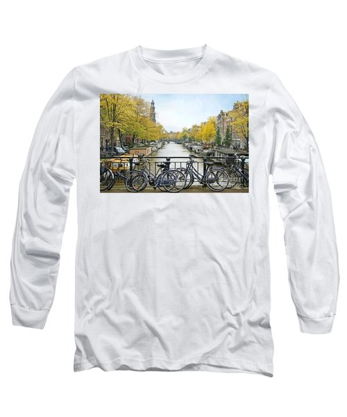 The Bicycle City Of Amsterdam Long Sleeve T-Shirt