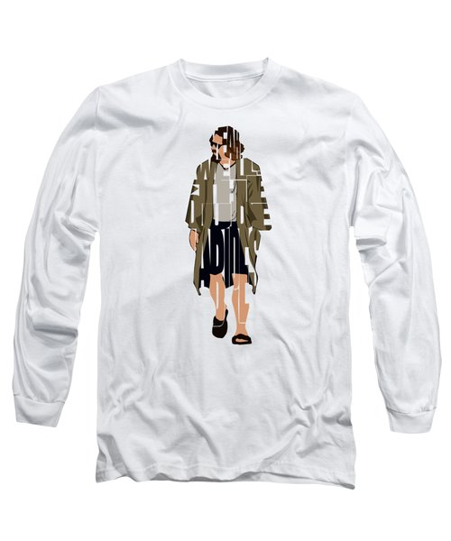 The Big Lebowski Inspired The Dude Typography Artwork Long Sleeve T-Shirt