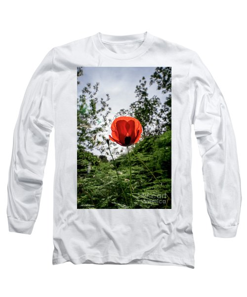 Long Sleeve T-Shirt featuring the photograph The Big Red 02 by Arik Baltinester