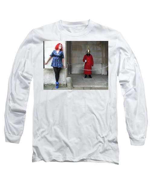 The Blue Ballet Shoes Hide From The Queen's Guard Long Sleeve T-Shirt