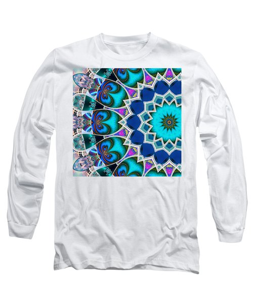 Long Sleeve T-Shirt featuring the digital art The Blue Collective 01b by Wendy J St Christopher