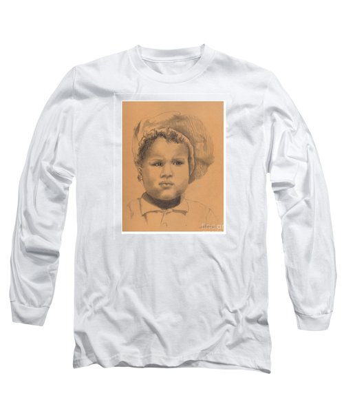 The Boy Who Hated Cheerios -- Portrait Of African-american Child Long Sleeve T-Shirt