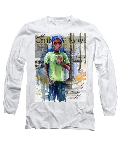 The Boy Who Sells Peanuts Long Sleeve T-Shirt