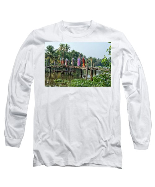 Long Sleeve T-Shirt featuring the photograph The Bridge by Marion Galt
