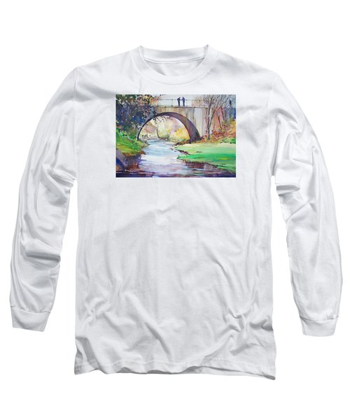 The Bridge Over Brewster Garden Long Sleeve T-Shirt by P Anthony Visco