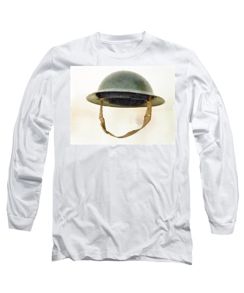 The British Brodie Helmet  Long Sleeve T-Shirt