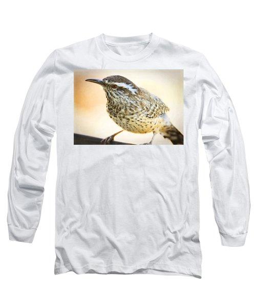 The Cactus Wren  Long Sleeve T-Shirt by Saija  Lehtonen