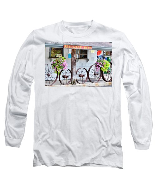 Long Sleeve T-Shirt featuring the photograph Wagon Wheels by Kim Bemis