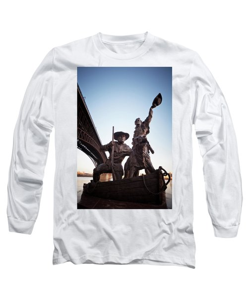 Long Sleeve T-Shirt featuring the photograph The Captain Returns by David Coblitz
