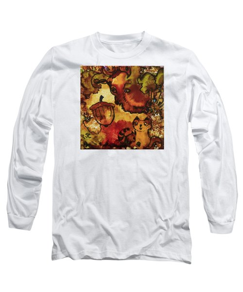 The Cat And The Acorn Long Sleeve T-Shirt