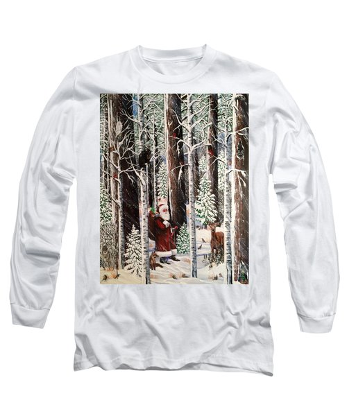 The Christmas Forest Visitor Long Sleeve T-Shirt by Jennifer Lake