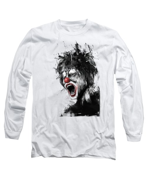The Clown Long Sleeve T-Shirt by Balazs Solti