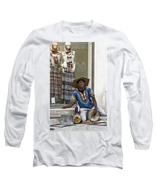 Long Sleeve T-Shirt featuring the photograph The Color Of Street Music by Lorraine Devon Wilke