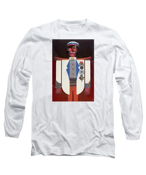 Long Sleeve T-Shirt featuring the painting The Commander by Bob Coonts