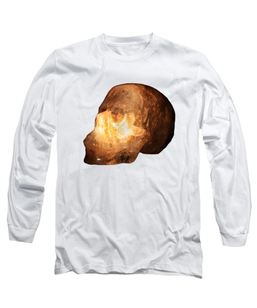 The Crystal Skull On Transparent Background Long Sleeve T-Shirt