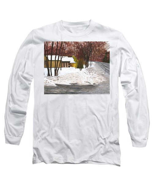 Long Sleeve T-Shirt featuring the painting The Day After by Stuart B Yaeger