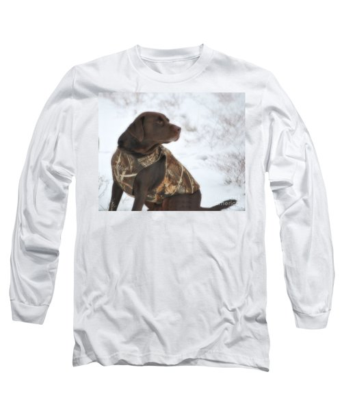 The Duck Dog Iv Long Sleeve T-Shirt by Donna Greene