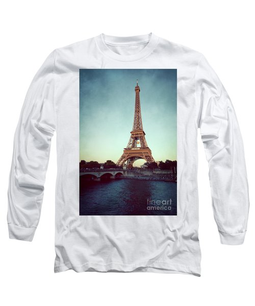 Long Sleeve T-Shirt featuring the photograph The Eifeltower by Hannes Cmarits