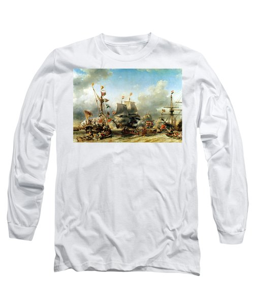 The Embarkation Of Ruyter And William De Witt In 1667 Long Sleeve T-Shirt