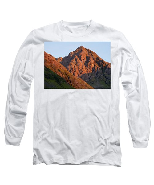 The Evening Light Hits Bidean Niam Ban Long Sleeve T-Shirt by Stephen Taylor