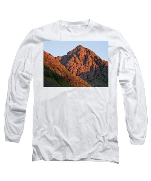 The Evening Light Hits Bidean Niam Ban Long Sleeve T-Shirt