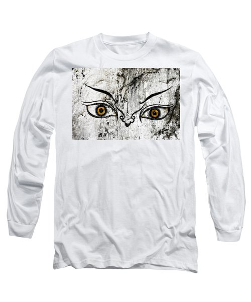 The Eyes Of Guru Rimpoche  Long Sleeve T-Shirt