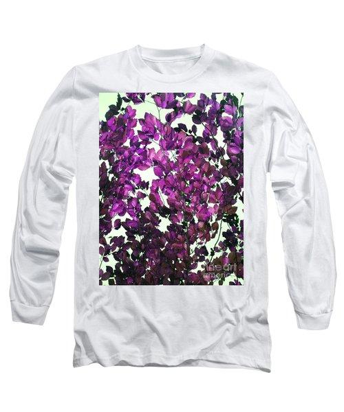 The Fall - Intense Fuchsia Long Sleeve T-Shirt by Rebecca Harman