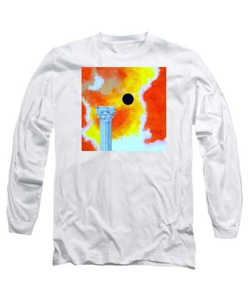 Long Sleeve T-Shirt featuring the painting The Fall Of Rome by Thomas Gronowski