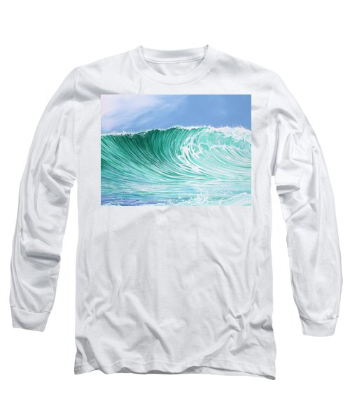 Long Sleeve T-Shirt featuring the painting The Falls by William Love