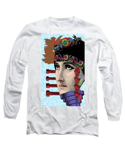 The Flow Of Memory Long Sleeve T-Shirt by Eric Edelman