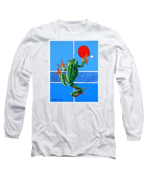 The Forehand Smash Long Sleeve T-Shirt by John Lautermilch