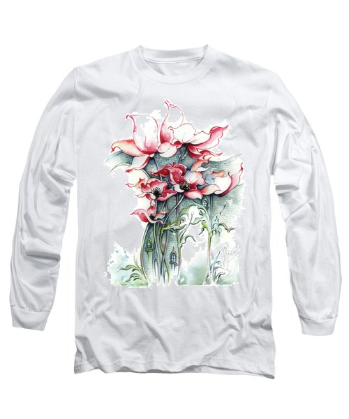 Long Sleeve T-Shirt featuring the painting The Gateway To Imagination by Anna Ewa Miarczynska