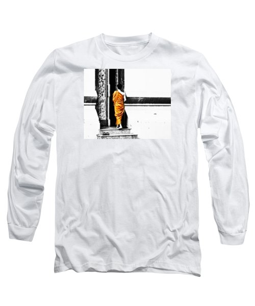 Long Sleeve T-Shirt featuring the photograph The Gilded Monk by Cameron Wood