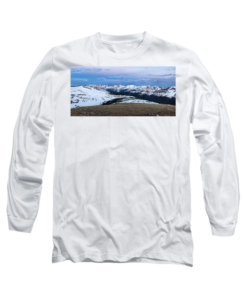 The Gore Range At Sunrise - Rocky Mountain National Park Long Sleeve T-Shirt by Ronda Kimbrow
