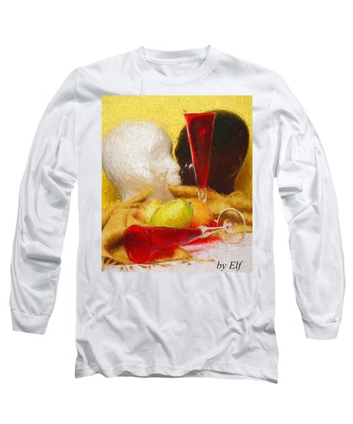 Long Sleeve T-Shirt featuring the digital art The Green Pear by Elf Evans