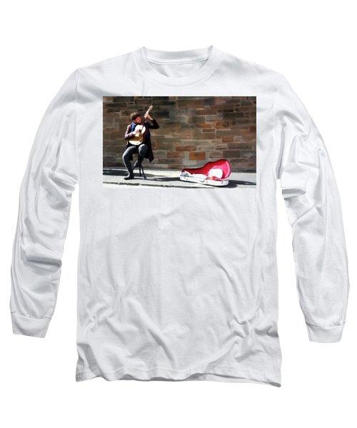 The Guitarist Long Sleeve T-Shirt by David Dehner