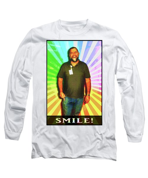 Long Sleeve T-Shirt featuring the mixed media The Healing Smile Mosaic by Shawn Dall