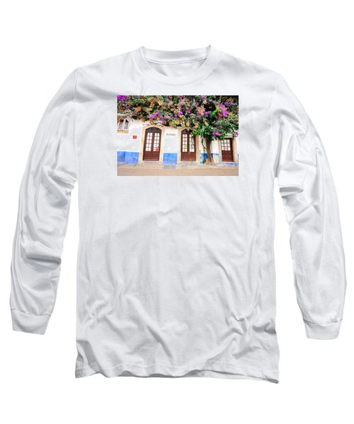 Long Sleeve T-Shirt featuring the photograph The House With The Bougainvillea by Marwan Khoury