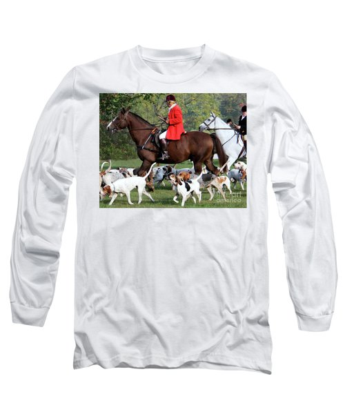 The Hunt Is On Long Sleeve T-Shirt by Polly Peacock