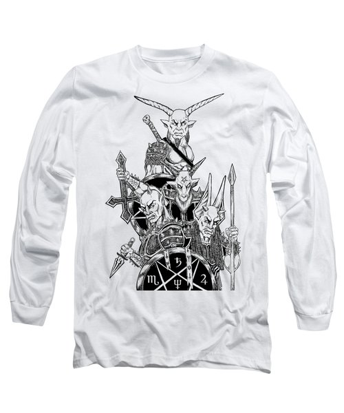 The Infernal Army White Version Long Sleeve T-Shirt by Alaric Barca