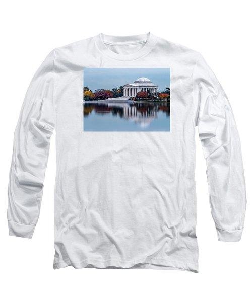 The Jefferson In Baby Blue Long Sleeve T-Shirt by Ed Clark