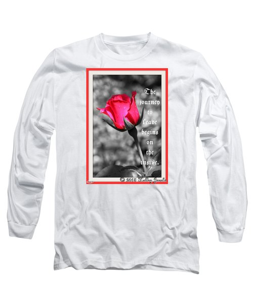 The Journey Begins Long Sleeve T-Shirt by Holley Jacobs