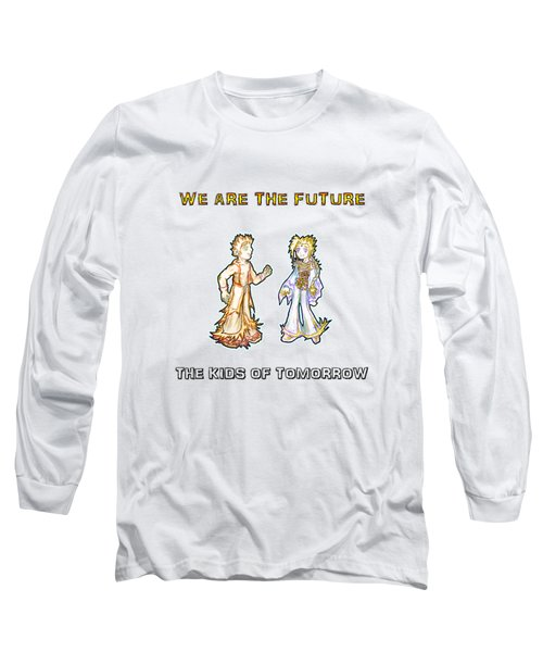 Long Sleeve T-Shirt featuring the digital art The Kids Of Tomorrow Corie And Albert by Shawn Dall
