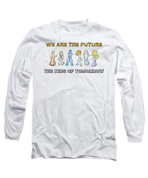 Long Sleeve T-Shirt featuring the digital art The Kids Of Tomorrow by Shawn Dall