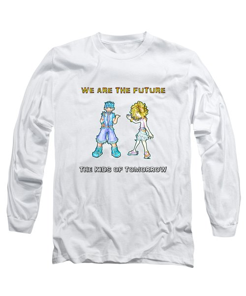 Long Sleeve T-Shirt featuring the digital art The Kids Of Tomorrow Toby And Daphne by Shawn Dall