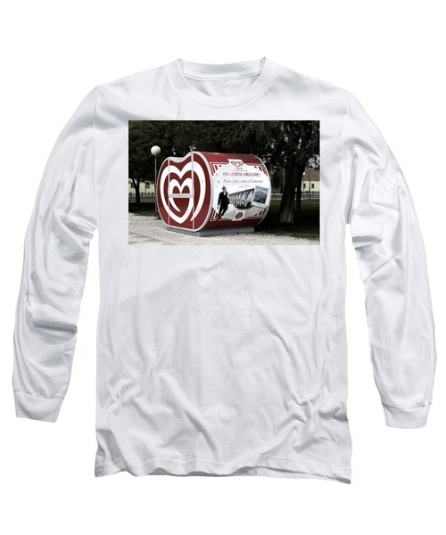 Long Sleeve T-Shirt featuring the photograph The Kiosk Is Closed Today by Lorraine Devon Wilke
