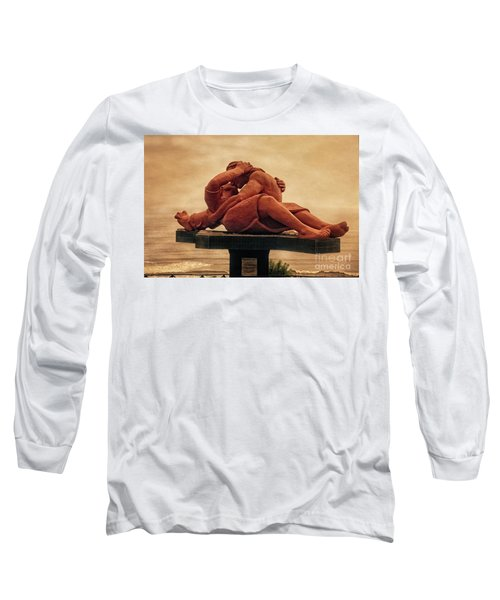 Long Sleeve T-Shirt featuring the photograph The Kiss - Peru by Mary Machare