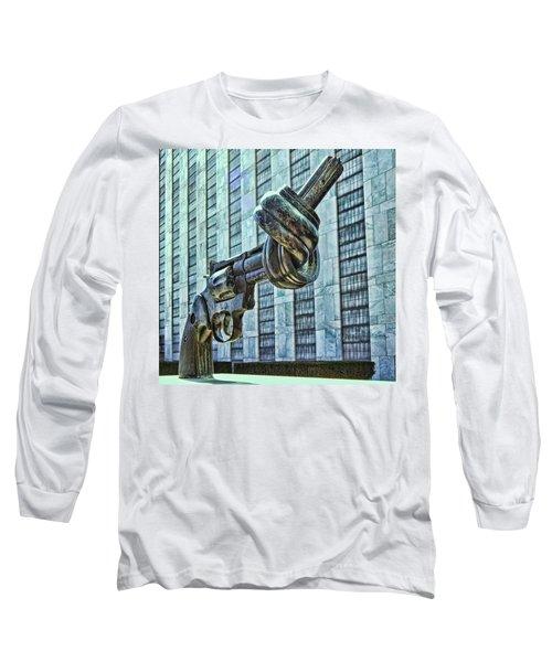 The Knotted Gun Long Sleeve T-Shirt by Allen Beatty