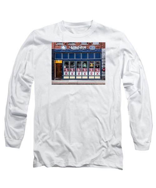 Long Sleeve T-Shirt featuring the photograph The Lasting Room - Haverhill Red Sox Pride by Betty Denise