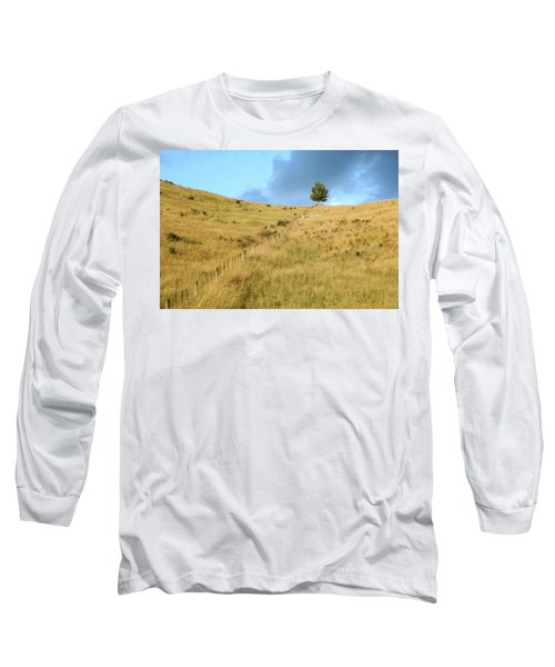 The Lines The Tree And The Hill Long Sleeve T-Shirt by Yoel Koskas
